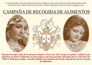 Cultos en Honor a Nuestra Señora del Carmen - Julio 2020