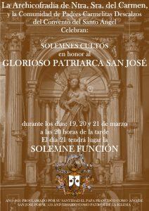 Cultos en Honor al Glorioso Patriarca San José 2021