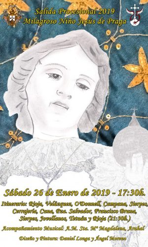 Cartel Salida Procesional Niño Jesús de Praga 2019